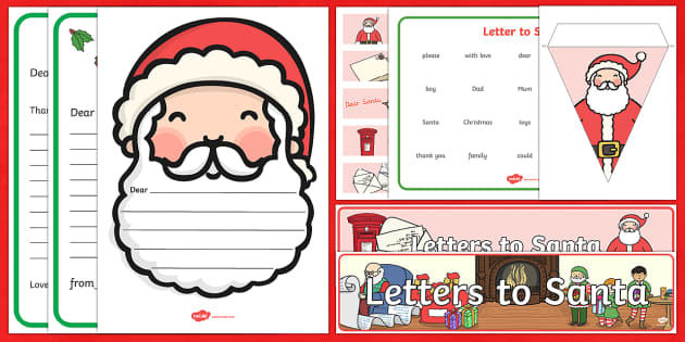 Dear Santa Resource Pack - santa, letter writing, letters