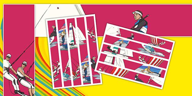 Rio 2016 Olympics Sailing Display Borders - rio 2016, rio olympics, 2016 olympics, sailing, display borders