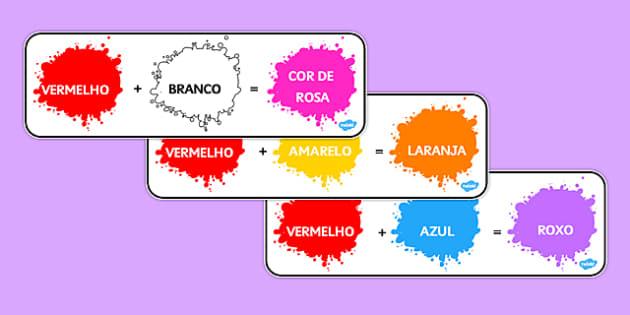 Colour Mixing Pack Portuguese - portuguese, colour, mixing, pack, colour mixing
