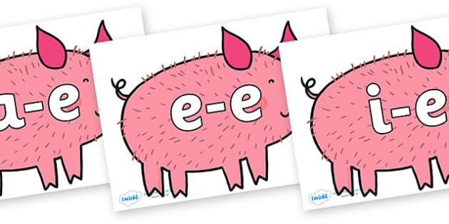 Modifying E Letters on Hairy Hog to Support Teaching on What the Ladybird Heard - Modifying E, letters, modify, Phase 5, Phase five, alternative spellings for phonemes, DfES letters and Sounds