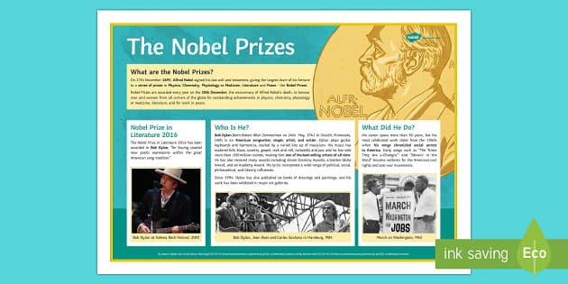The Nobel Prize in Literature Poster