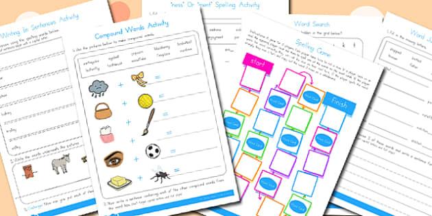 Year 2 Spelling Activities 1 - australia, spelling, year 2, spell