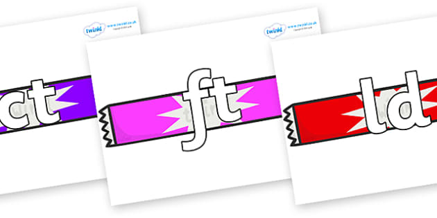 Final Letter Blends on Candy Bars - Final Letters, final letter, letter blend, letter blends, consonant, consonants, digraph, trigraph, literacy, alphabet, letters, foundation stage literacy
