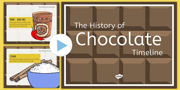 The History of Chocolate Timeline Presentation - history of chocolate, timeline, presentation, powerpoint, history, chocolate