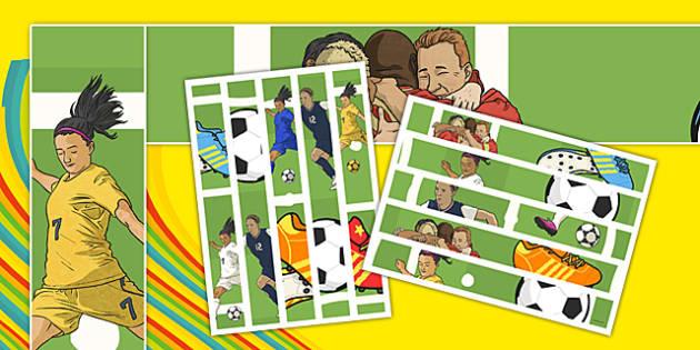 Rio 2016 Olympics Footbal Display Borders - football, sports, pe, world cup, sport