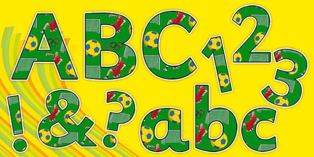Rio 2016 Olympics Handball Display Letters and Numbers Pack - rio 2016, 2016 olympics, rio olympics, display letters, display numbers, pack