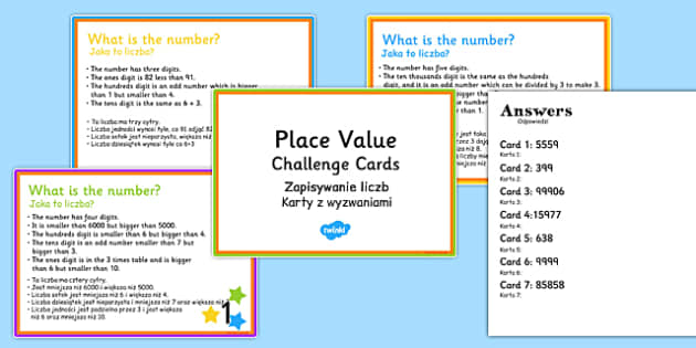Place Value Riddle Challenge Cards Polish Translation - polish, place value, riddle, challenge, cards