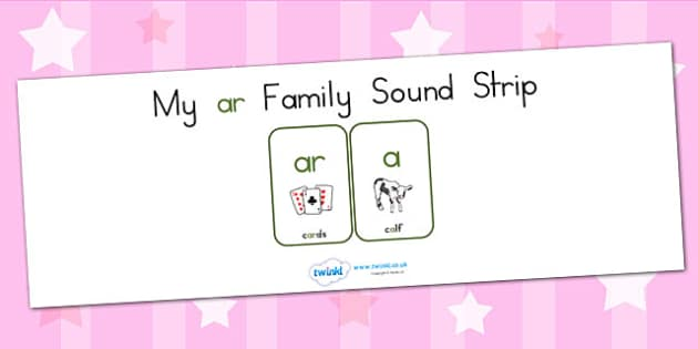 My Ar Family Sound Strip - sound family, visual aid, literacy