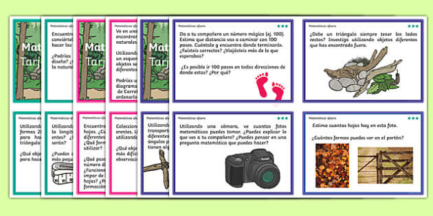 Outdoor Maths Challenge Cards Spanish - spanish, Maths, outdoors, challenge, add, addition, plus, total, sum, altogether, equals, subtract, subtraction, minus, takeaway, less than, more than, greater than, multiply, multiple, multiplication, times, t
