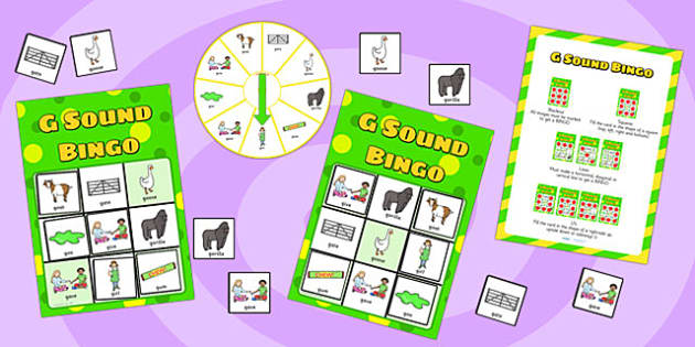 g Sound Bingo Game with Spinner - sounds, sound games, bingo