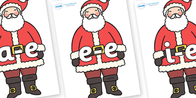 Modifying E Letters on Father Christmas - Modifying E, letters, modify, Phase 5, Phase five, alternative spellings for phonemes, DfES letters and Sounds