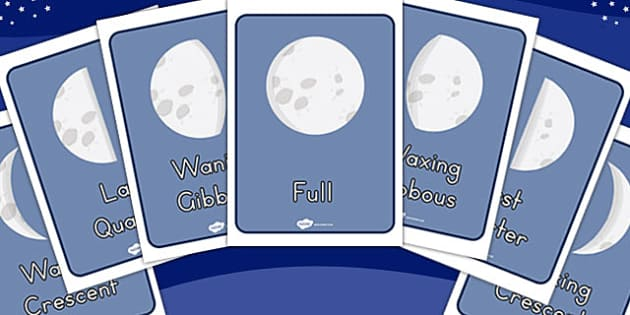 Phases Of The Moon Display Posters - displays, poster, space