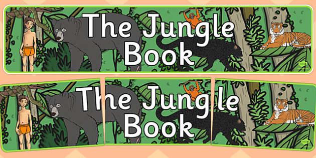 The Jungle Book Display Banner - jungle book, display banner, display