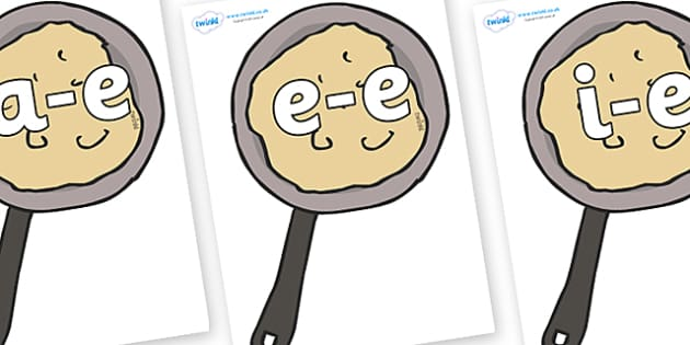Modifying E Letters on Pancakes - Modifying E, letters, modify, Phase 5, Phase five, alternative spellings for phonemes, DfES letters and Sounds