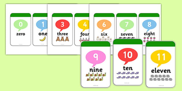 0-30 Number And Word Flashcards - flashcards, number, word, 0-30