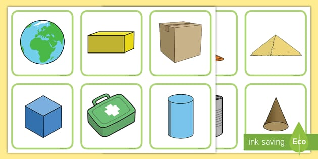 Shapes in the Environment Matching Cards - shapes, shape cards