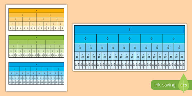Blank Fraction Wall Sheet fractions numeracy maths display – Fraction Wall Worksheet
