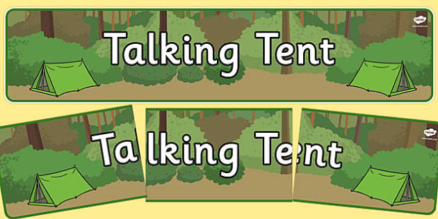 Talking Tent Display Banner - talking tent, display banner, display