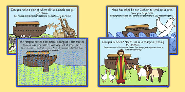 Noahs Ark Role Play Challenge Cards Polish Translation - polish, noahs ark, role play, challenge, cards