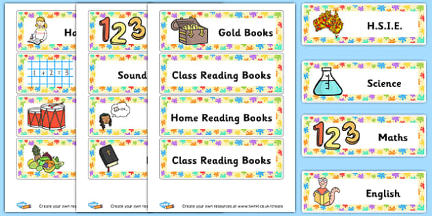 Shelf Subject Labels - Classroom Signs & Label Primary Resources, labels, posters, rules