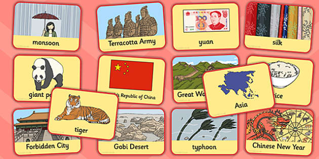 China Flash Cards - china, flashcards, flash cards, country