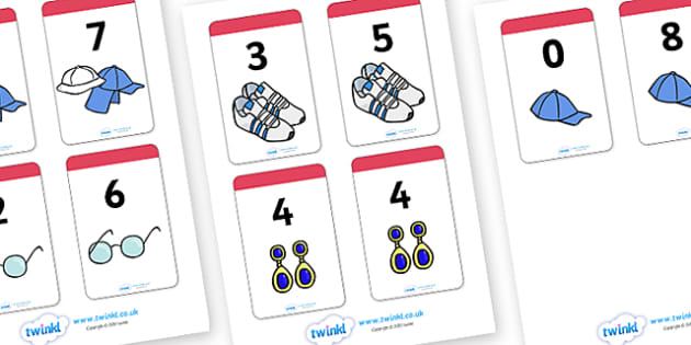 Number Bonds to 8 Matching Cards (Clothing) - Number Bonds, Matching Cards, Clothing Cards, Number Bonds to 8