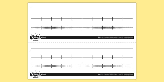 Mixed Blank Number Lines - number line, fractions, decimals, percentages, compare, place, order, blank, lines