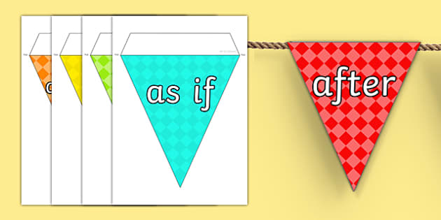 Conjunctions on Bunting Multicolour - Connectives, Display
