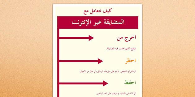 ملصق كيف تتعامل مع المضايقة عبر الإنترنت - بوستر، المضايقة