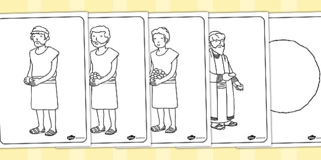 The Talents Colouring Sheets - parables, talents, colouring