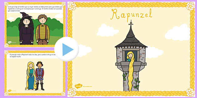 Rapunzel Story PowerPoint Spanish - spanish, rapunzel, story, powerpoint