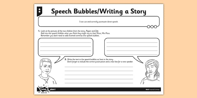 Speech Bubbles Activity Sheet - GPS, inverted commas, speech marks, spelling, punctuation, grammar, SPaG, worksheet