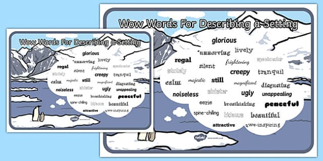 Adjectives For Describing a Setting Poster - poster, display