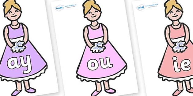 Phase 5 Phonemes on Bridesmaids - Phonemes, phoneme, Phase 5, Phase five, Foundation, Literacy, Letters and Sounds, DfES, display