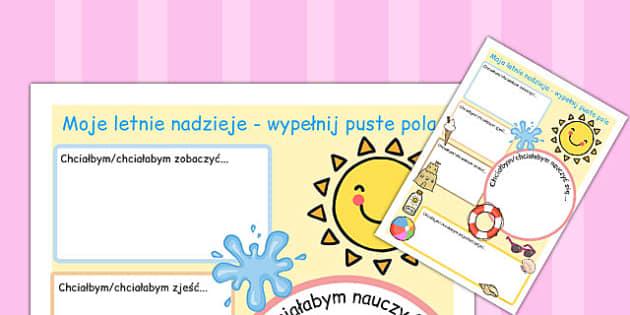 Letnie wakacje cwiczenia w pisaniu po polsku - do druku , Polish