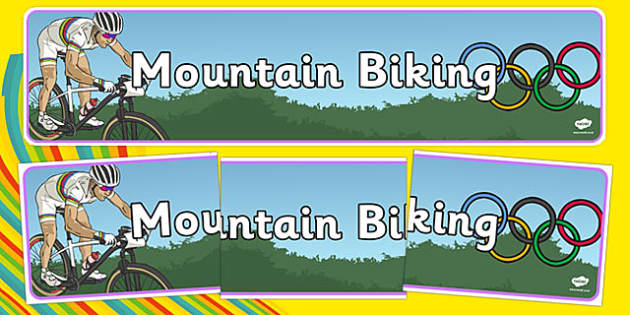 Rio 2016 Olympics Mountain Biking Display Banner - rio olympics, 2016 olympics, rio 2016, mountain biking, display banner