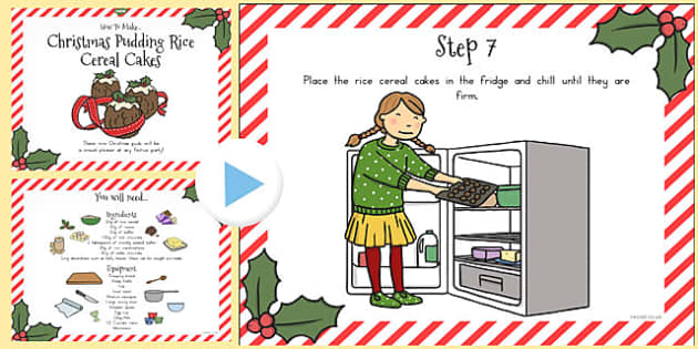 Christmas Pudding Rice Cereal Cakes Recipe PowerPoint - australia