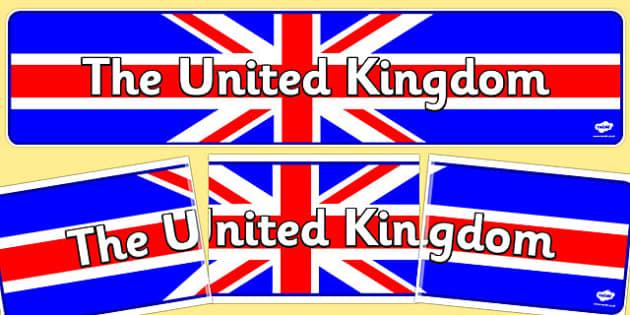 United Kingdom Display Banner - United Kingdom, UK, display, banner, sign, poster