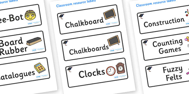 Pukeko Themed Editable Additional Classroom Resource Labels - Themed Label template, Resource Label, Name Labels, Editable Labels, Drawer Labels, KS1 Labels, Foundation Labels, Foundation Stage Labels, Teaching Labels, Resource Labels, Tray Labels, P