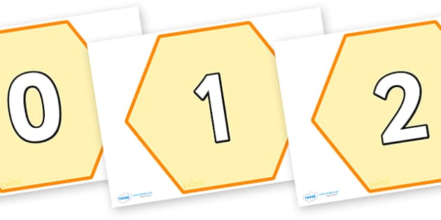 0-50 on Hexagon Honeycombs - 0-50, numbers on honeycombs, numbers on hexagons, 0-50 on hexagons, bee display numbers, bees, minibeasts, 0-50, up to 50