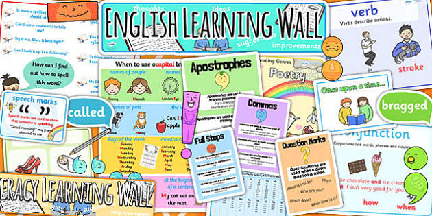 KS1 Literacy Learning Wall Display Pack - literacy, ks1 working wall, ks1