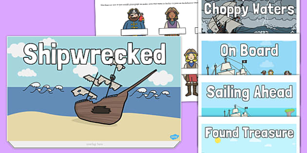 Pirate Themed Class Behaviour Progress Chart - pirate, themed, behaviour, class, progress, chart
