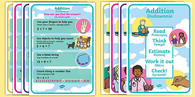 KS1 Number Operations A4 Display Posters Polish Translation-Polish-translation