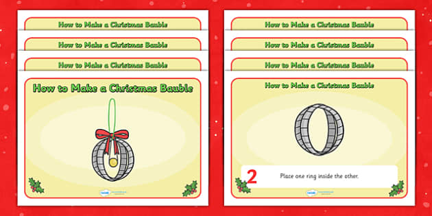 How to Make a Christmas Bauble - how to make a christmas bauble, christmas, bauble, baubles, xmas, how to make, instruction, display, poster, creative, activity
