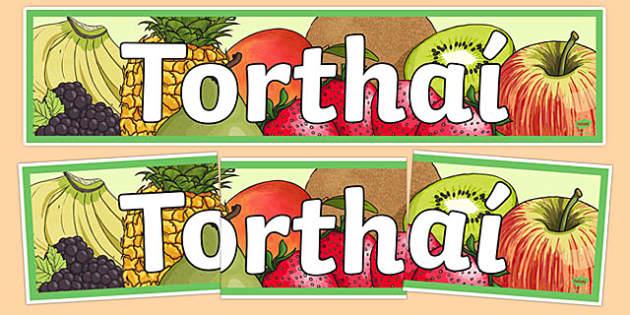 Bia Food Display Banner Torthai - bia, food, irish, gaeilge, display, banners, food types