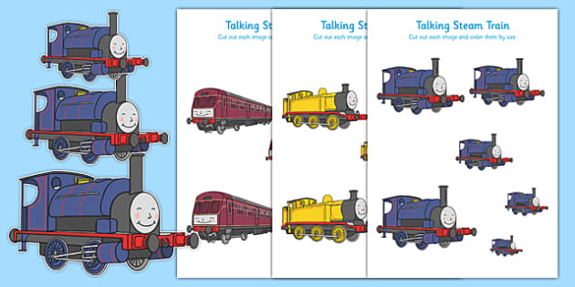 Talking Steam Train Themed Size Ordering - thomas the tank engine, talking steam train, size ordering