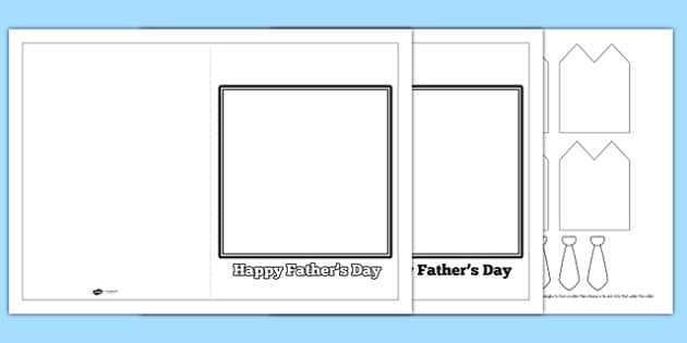 3D Shirt And Tie Fathers Day Card - cards, gifts, presents, dad
