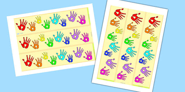 Handprint Display Borders- display borders, handprint, handprint themed, themed borders, themed header, header, display border, display header, display
