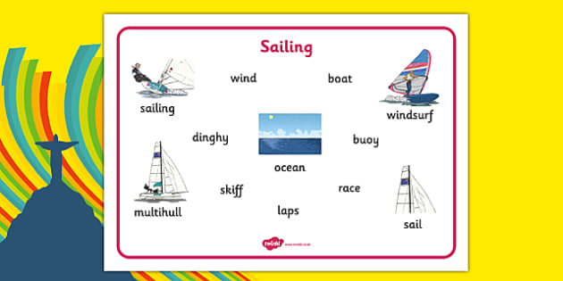Rio 2016 Olympics Sailing Word Mat - rio 2016, rio olympics, 2016 olympics, sailing, word mat