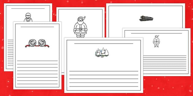 Christmas Train Journey Writing Frames - christmas train journey, writing frames
